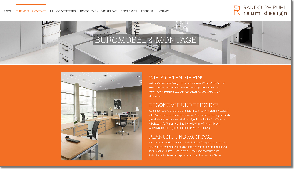 homepage raumausstatter webdesign frankfurt mainz. Black Bedroom Furniture Sets. Home Design Ideas