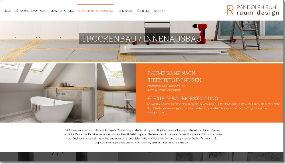Homepage Raumausstatter – Webdesign Frankfurt, Mainz, Wiesbaden